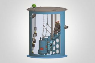 Barnes Pipe Rail Fiberglass Lift Stations